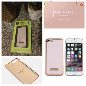 Ted Baker London iPhone 6 Leather Case Rose Gold